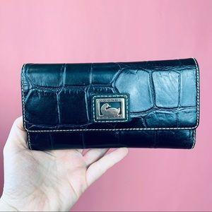 Dooney & Bourke Crocodile Leather Wallet